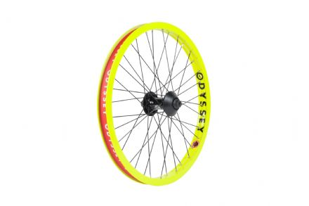Odyssey Hazard Lite Front Wheel - Fluorescent Yellow